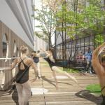 Connecting Alley / Outdoor Ballet Rehearsal Space, Image Courtesy ©  stpmj