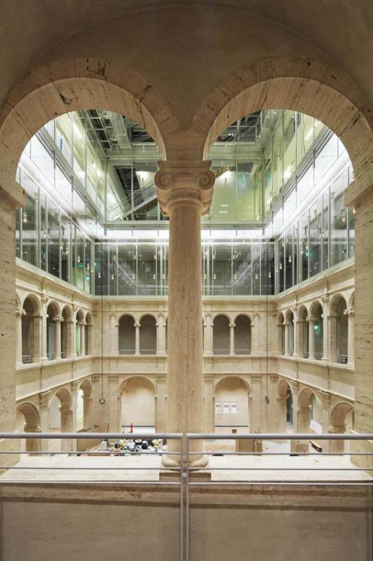 Interior view Calderwood courtyard December 2013, Image Courtesy ©  Michel Denancé