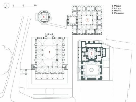 Site Plan of the Complex, Image Courtesy © Cafer Bozkurt Architecture