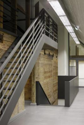 First floor with the new staircases, Image Courtesy © Ansis Starks