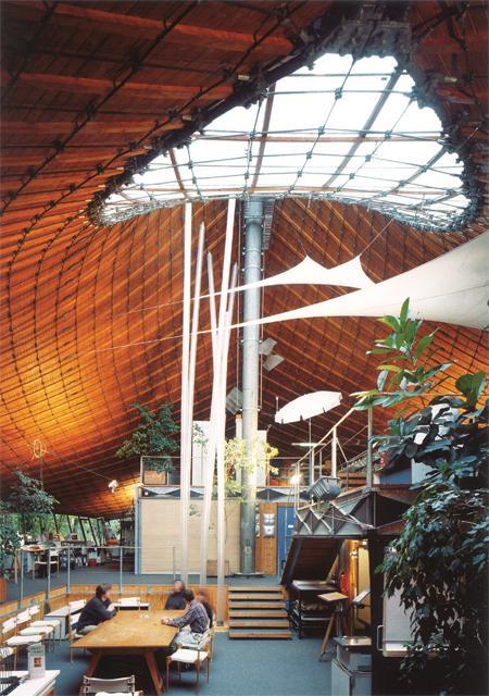 Institute for Lightweight Structures, interior, 1967, University of Stuttgart in Vaihingen --   Photo © Atelier Frei Otto Warmbronn