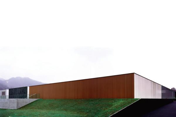 the variation of materials on the exterior wall, Image Courtesy © Christoffer Rudquist