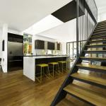 554-Kitchen from stairs, Image Courtesy © Raleigh Architecture Company
