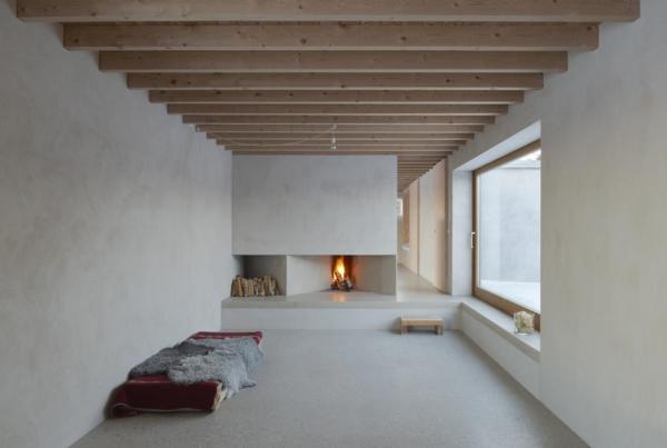 Living room with fireplace, Image Courtesy © Åke E: son Lindman