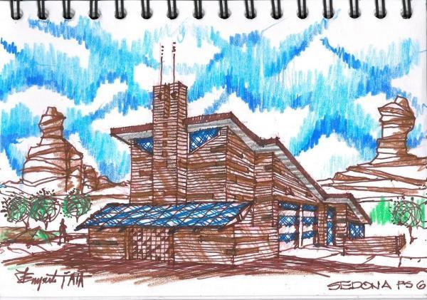 Lawrence Enyart FAIA Sedona Station 6 SE, Image Courtesy © LEA Architects