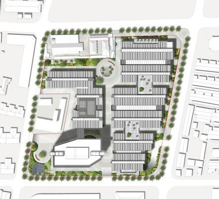 Site plan, Image Courtesy © gmp Architekten von Gerkan, Marg und Partner