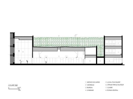 Section, Image Courtesy © NFOE et associés architectes