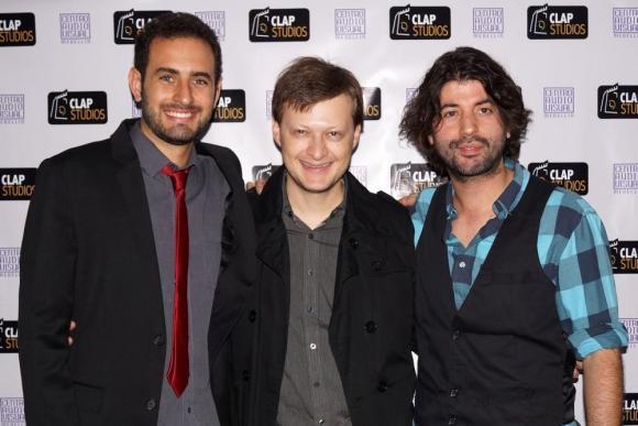 Sound Supervisor, Daniel Jaramillo, Head of Post-Production, Daniel Vásquez, and CEO/Producer, Gabriel J. Pérez, Image Courtesy © CLAP STUDIOS