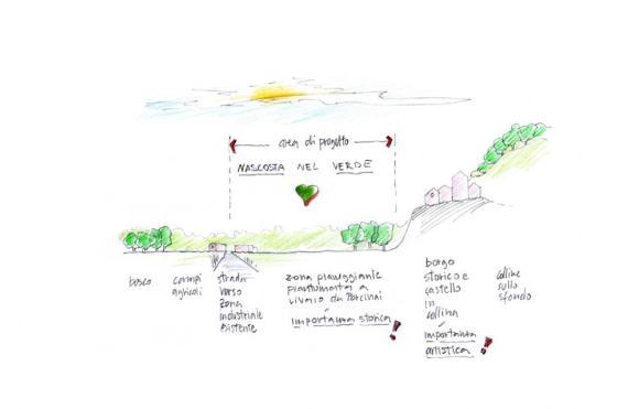 Preliminary sketch, Image Courtesy © Marco Acerbis Studio