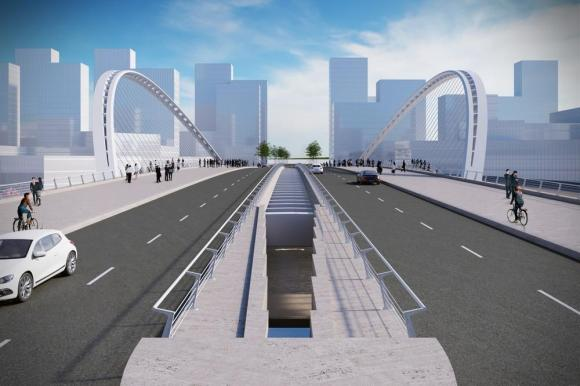 Artistic impression of Licong's frontal view, Image Courtesy © Santiago Calatrava LLC