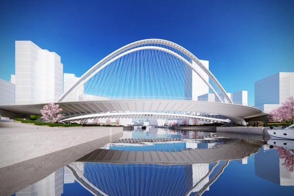 Artistic impression of Xianbi's lateral view, Image Courtesy © Santiago Calatrava LLC