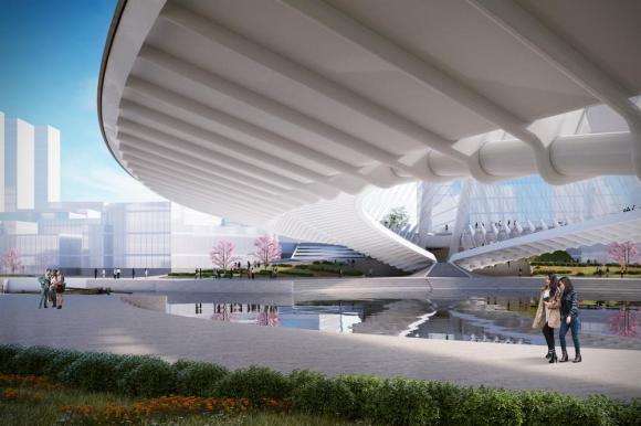 Artistic impression of Xianbi's underside, Image Courtesy © Santiago Calatrava LLC