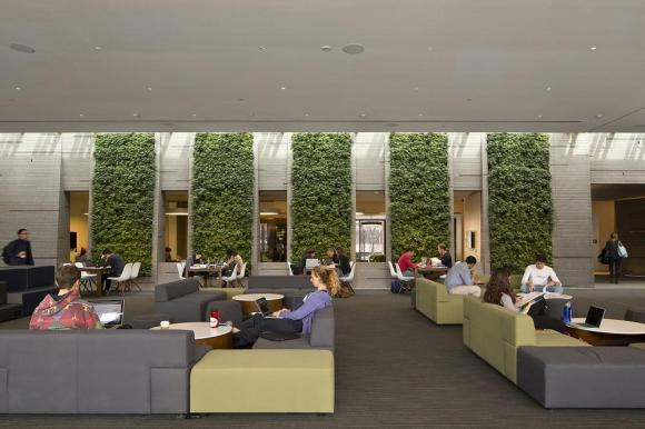 Living Wall of the Great Lounge, Image Courtesy © Brad Feinknopf