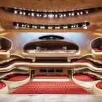 The grand theater sculpted in Manchurian Ash, holds 1,600 seats, Image Courtesy © Adam Mørk