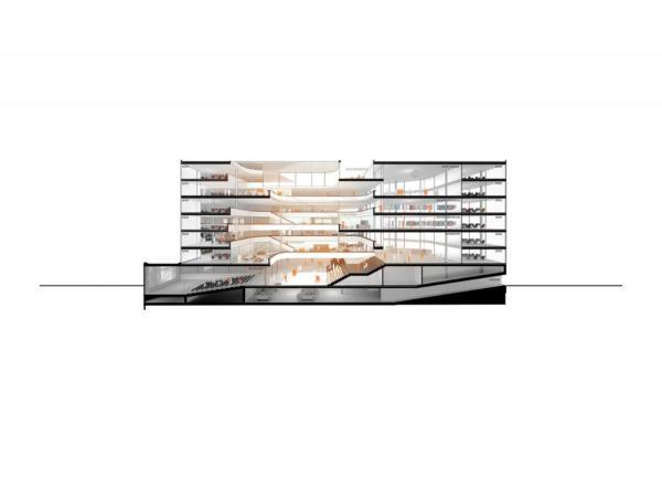 : 3D-section, Image Courtesy © HENN