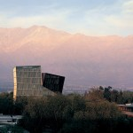 Siamese Towers, 2005, San Joaquín Campus, Universidad Católica de Chile, Santiago, Chile, University classrooms and offices. Photo by Cristobal Palma.