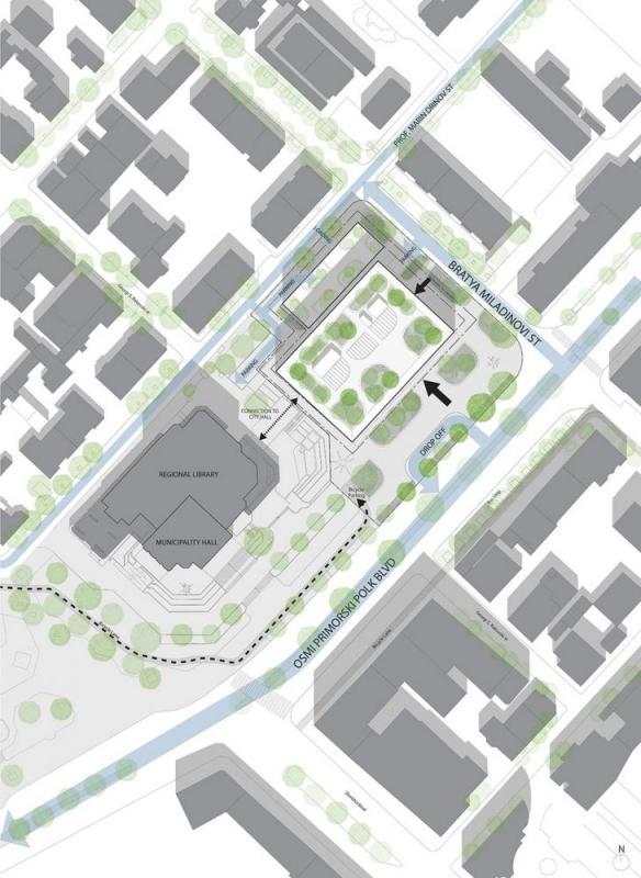 site plan, Image Courtesy © Spatial practice