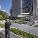 City staff enjoying the garden, Image Courtesy © Steven Evans / © PLANT Architect Inc.