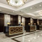 Hilton Hotel Budapest, lobby and reception, Image Courtesy © Gareth Gardner