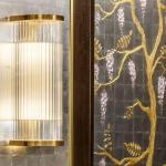 Lobby lighting and wisteria illustration artist inset panel, Image Courtesy © Gareth Gardner