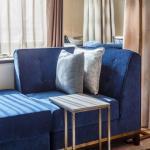 Bespoke furniture in royal blue velvet, Image Courtesy © Gareth Gardner