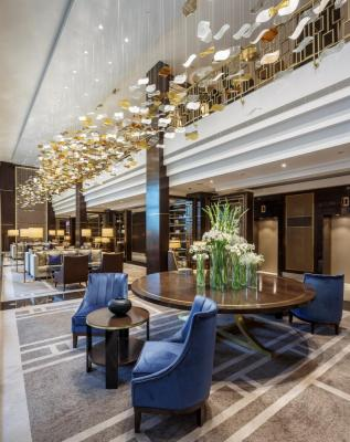 The stunning, double-height Lounge on the hotel's ground floor, Image Courtesy © Gareth Gardner
