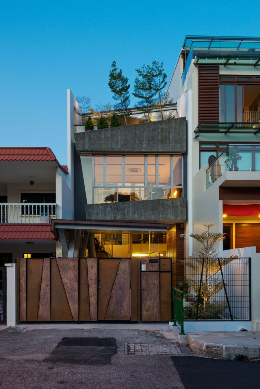 Front view from the street, Image Courtesy © IX Architects Pte Ltd