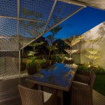 Roof top garden with expanded metal mesh screen and landscaping, Image Courtesy © IX Architects Pte Ltd