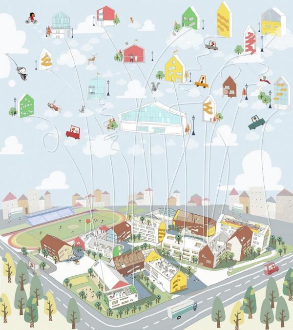 Diagram, Image Courtesy © LYCS Architecture