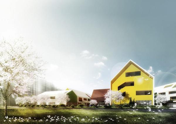 East View of Kindergarten, Image Courtesy © LYCS Architecture