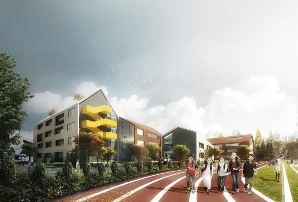 West View of Primary School, Image Courtesy © LYCS Architecture