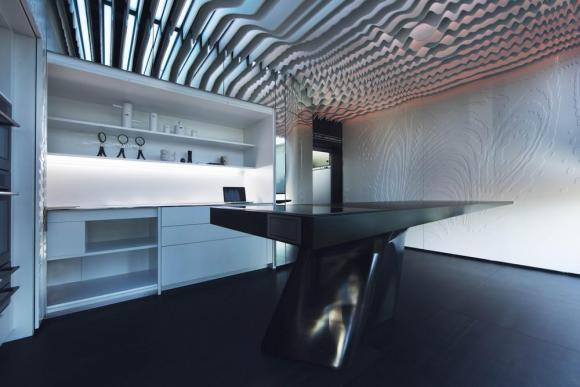 The side closets are a topographical section, following the ceiling, Image Courtesy © Alfonso Calza