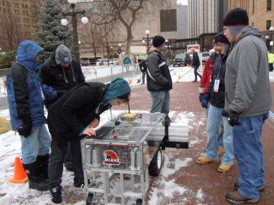 In 2012, Team RedBlade won second place in both the ninth annual Institute of Navigation (ION) Robotic Lawn Mower Competition in Dayton, Ohio and the ION Autonomous Snow Plow Competition held in January in Minneapolis.