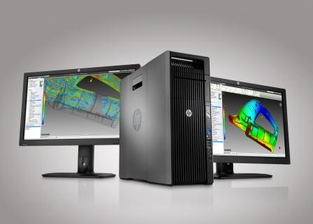 HP Z620 Workstation and dual HP ZR2740w Displays with Moldflow COMPRESSED