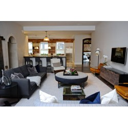 Cozy For A Client His Expecting Designer Ashley Darryllightened Up A Masculine How To Transform A Bachelor Pad Into A Bright Family Home Living Spaces Interior Design