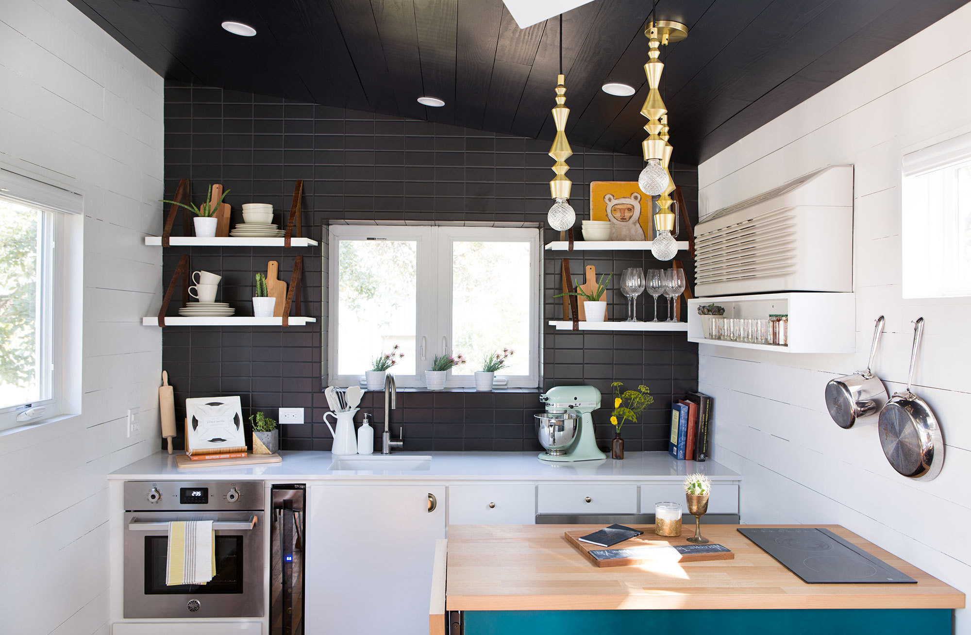 Noble Big Ideas Small Tiny House Kitchen Images Tiny House Kitchen Design Ideas A Movable Gives A House A Counter That Runs From Wall To Austin Packed curbed Tiny House Kitchen Ideas