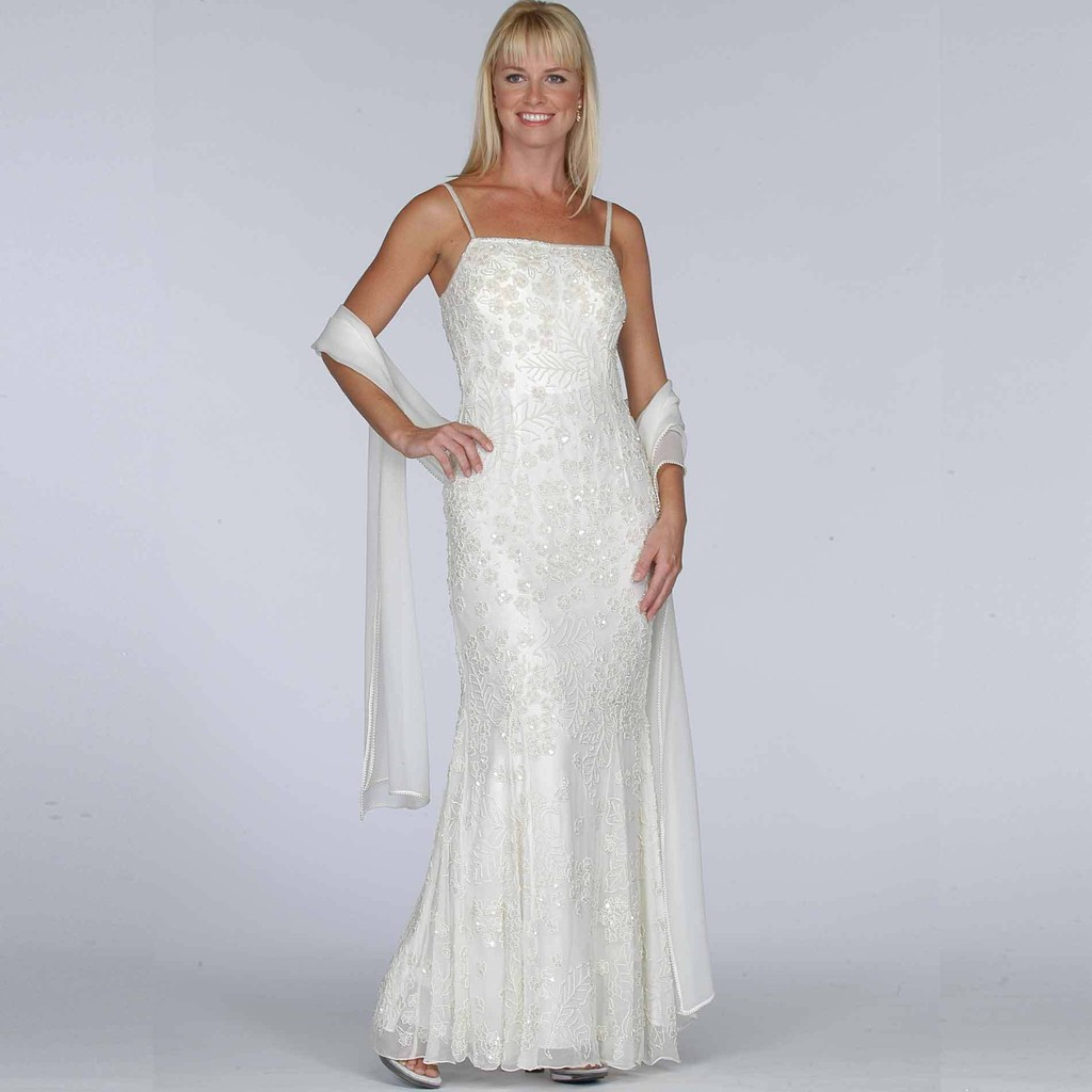 Sears+Ivory+Beaded+Evening+Dress sears wedding dresses Sears Ivory Beaded Evening Dress Wedding Dresses You Can Buy Online StyleBistro
