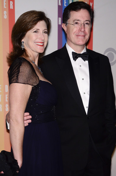 Stephen Colbert and Evelyn McGee-Colbert at the 35th Kennedy Center Honors