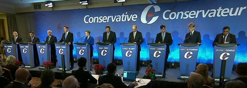 Le Parti conservateur du Canada (PCC) organisait, le mardi 6 décembre, à Moncton, son deuxième débat pour la course à la chefferie.  Crédit photo: #ONfr
