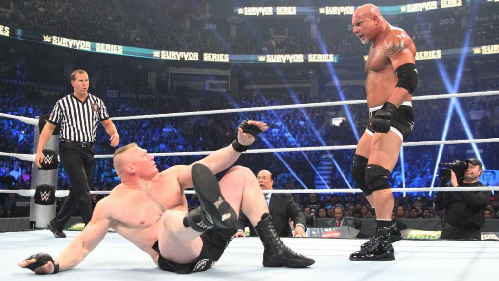 bill-goldberg-and-brock-lesnar-at-survivor-series