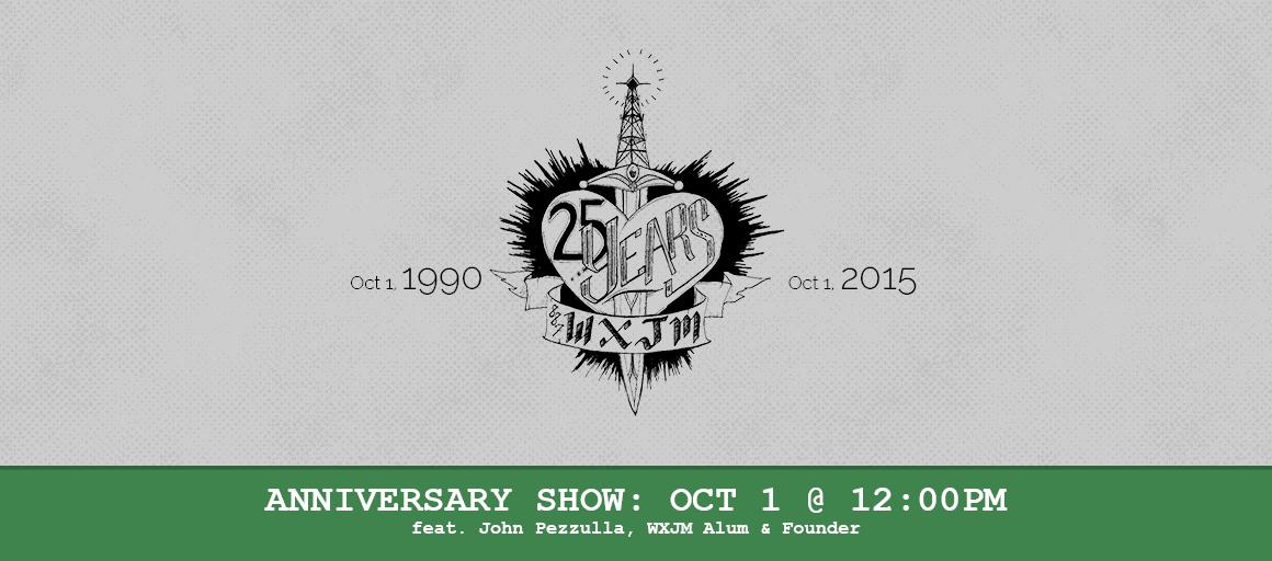 WXJM Anniversary Banner