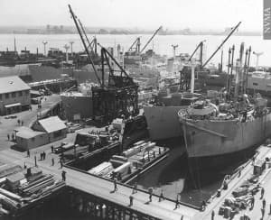 Mike Ruffatto compared carbon sequestration research to the WWII victory ships program. (click to enlarge)]