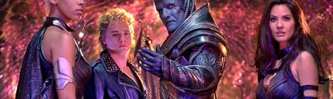 X-Men: Apocalypse (2016) L to R:  Alexandra Shipp, Ben Hardy, Oscar Isaac and Olivia Munn