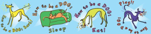 How to be a Dog fabric design