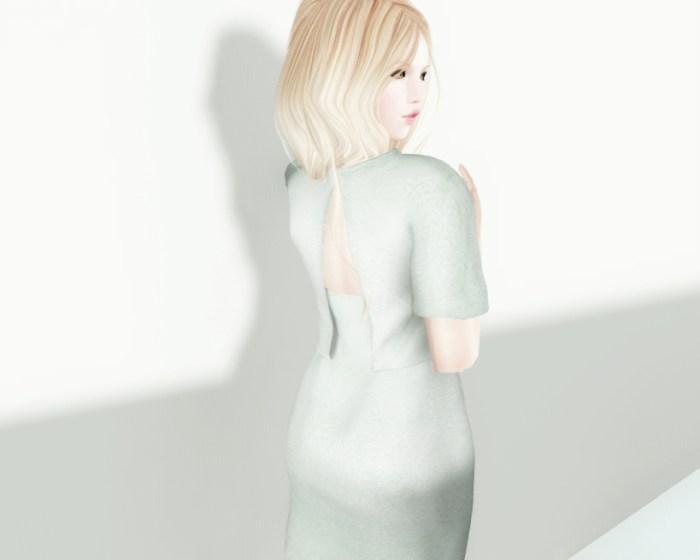Jersey Dress Mint Back