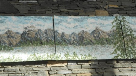 polyptych painting within the TransCanada Pipeline Pavilion, Banff Centre, Banff, March 21, 2012