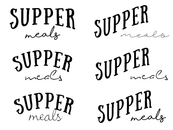 Supper logo drafts - layout