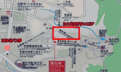 清水寺アクセス地図
