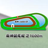 阪神競馬場芝1600m