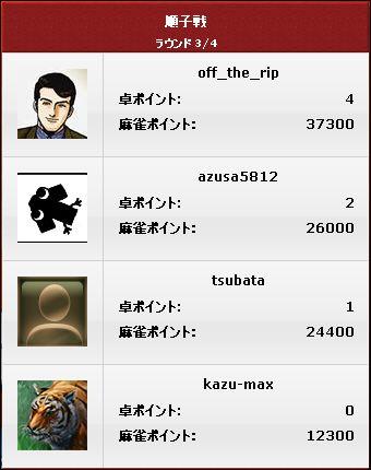 順子戦_3ゲーム目_結果